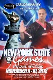2012 skita rules at a glance - New York Sport Martial Arts Showcase