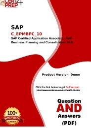 Cert4Prep C_EPMBPC_10 Certification Exam Training Guides