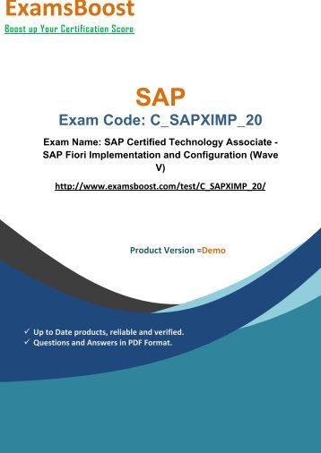 ExamsBoost C_SAPXIMP_20 Exam Queries & Solutions