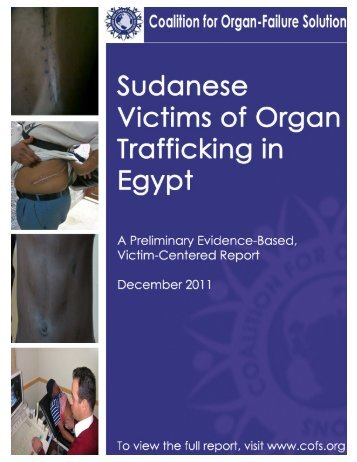 REPORT Sudanese Victims of OT in Egypt - COFS