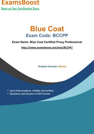 ExamsBoost BCCPP Exam Queries & Solutions