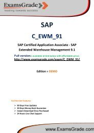 ExamsGrade C_EWM_91 Latest Sample Questions & Answers