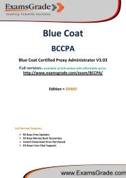 ExamsGrade BCCPA Latest Sample Questions & Answers