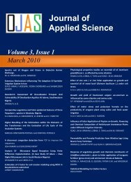 Journal of Applied Science Studies - Ozean Publications