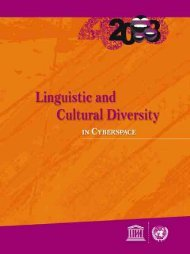 Linguistic and Cultural Diversity in Cyberspace