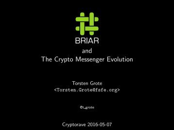 The Crypto Messenger Evolution