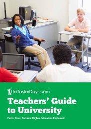 Teachers' Guide to University