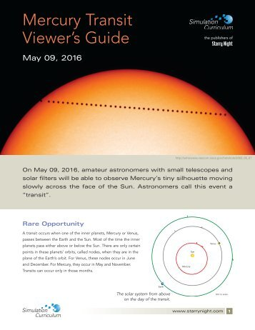 Mercury Transit Viewer's Guide