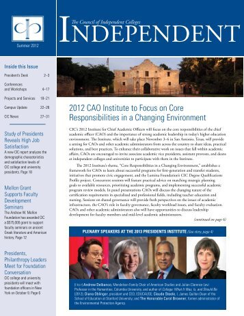 by Richard Ekman - The Council of Independent Colleges