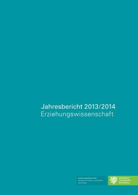 Erziehungswissenschaft: Jahresbericht 2013/2014