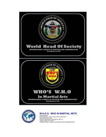 W.H.O.S. WHO IN MARTIAL ARTS - Kathmandu.org