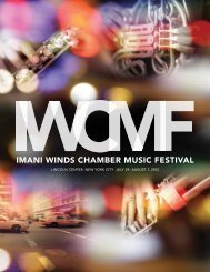 Discover the path toYour Future - Imani Winds Chamber Music Festival