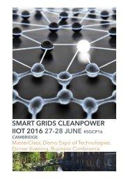 SMART GRIDS CLEANPOWER IIOT 2016 27-28 JUNE