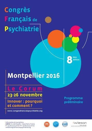 Congrès Français Psychiatrie Montpellier 2016