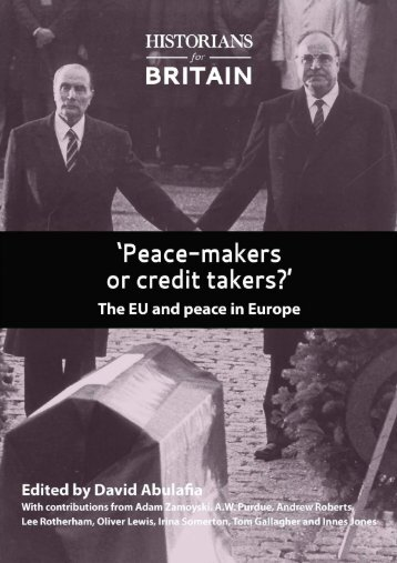 'Peace-makers or credit takers?'