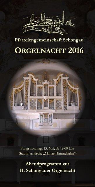 Orgelnacht 2016 Programmheft druckfertig