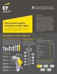 How private equity investors create value