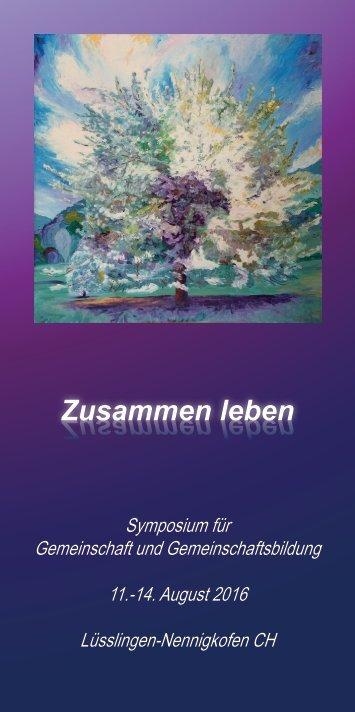 Symposium Zusammen leben - Flyer