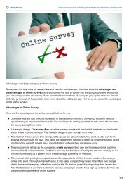 Advantages and Disadvantages of Online Survey