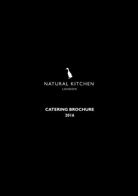 CATERING BROCHURE 2016