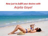 Save your time and money with Arpita Goyel at Pune escorts