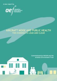 Aircraft noise and public health