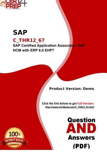 Cert4Prep C_THR12_67 Exam Practice Questions