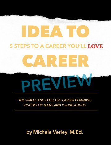 "PREVIEW of ""IDEA to CAREER: 5 Steps to a Career You'll Love."""