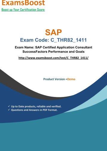 ExamsBoost C_THR82_1411 PDF Coaching Kits