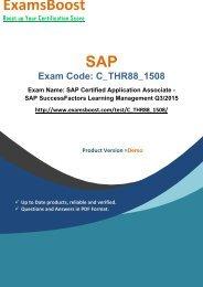 ExamsBoost C_THR88_1508 PDF Coaching Kits