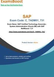 ExamsBoost C_TADM51_731 PDF Coaching Kits