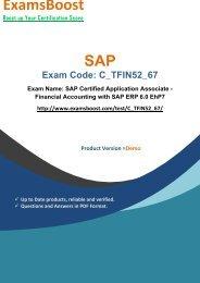 ExamsBoost C_TFIN52_67 PDF Coaching Kits