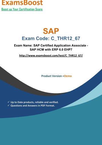 ExamsBoost C_THR12_67 PDF Coaching Kits