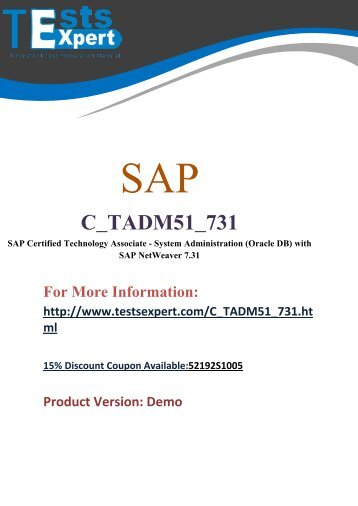 TestsExpert C_TADM51_731 Latest Demo Q&A