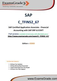 ExamsGrade C_TFIN52_67 Latest Exam Q&A