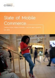 State of Mobile Commerce