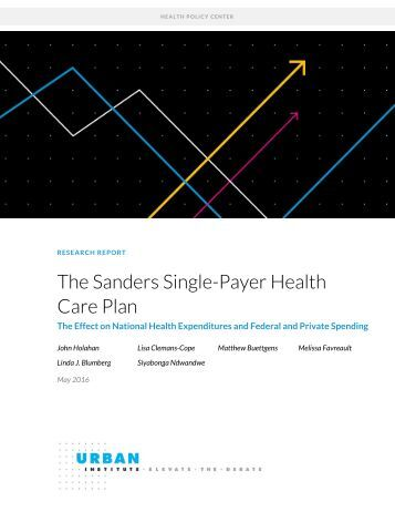 The Sanders Single-Payer Health Care Plan