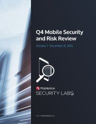 Q4 Mobile Security and Risk Review