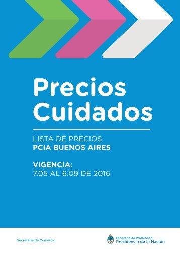 LISTA DE PRECIOS PCIA BUENOS AIRES VIGENCIA 7.05 AL 6.09 DE 2016