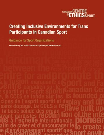 Creating Inclusive Environments for Trans Participants in Canadian Sport