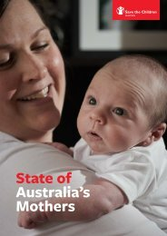 State of Australia's Mothers