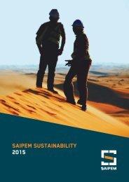 saipem sustainability 2015