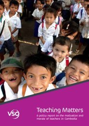 Cambodia Valuing Teachers: Progress report November 2011 - VSO