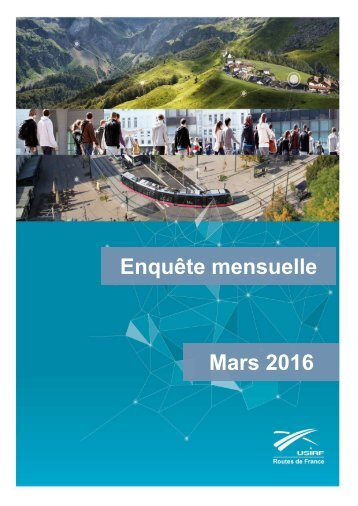 Enquête mensuelle Mars 2016
