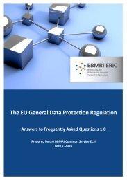 The EU General Data Protection Regulation