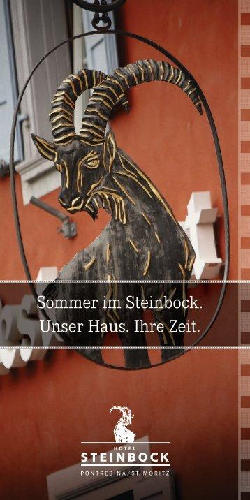 Hotel Steinbock Sommermailing 2016