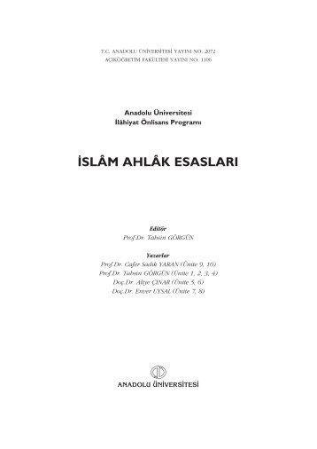 ISLÂM AHLÂK ESASLARI