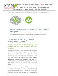Get Targeted Content Management System User Lists from Span Global Services