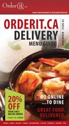 great food delivered to your home or office - OrderIt.ca