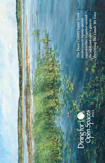 Dining For Open Spaces 2012 Brochure - Door County Land Trust